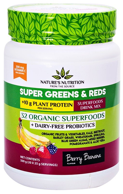 super greens and reds